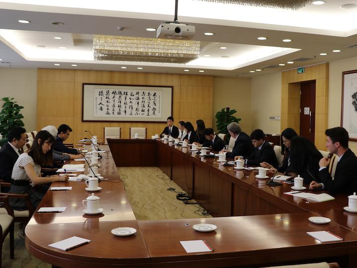 U.S.-China Student Fellows Meeting Madame Fu Ying
