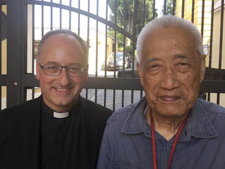 Fathers Joseph Shih and Antonio Spadaro
