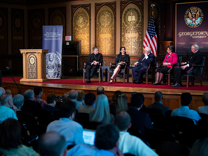 Panelists at June 2018 Convening in Gaston Hall