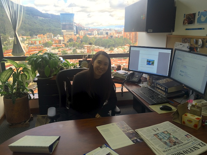 Amanda Chatupron-Lacayo at her internship with the Office of the United Nations High Commissioner for Human Rights.