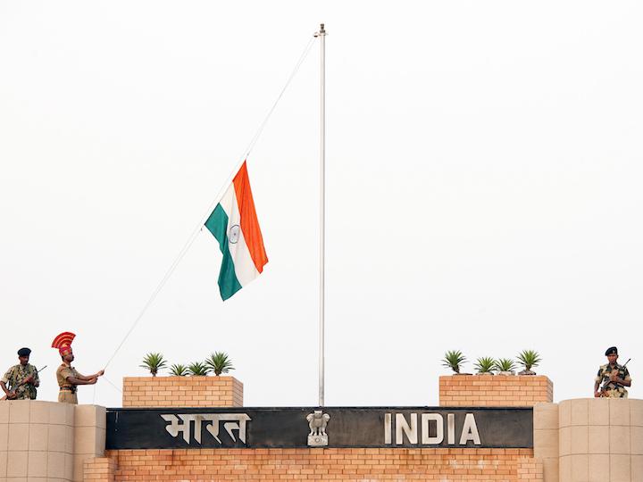 India flag raising