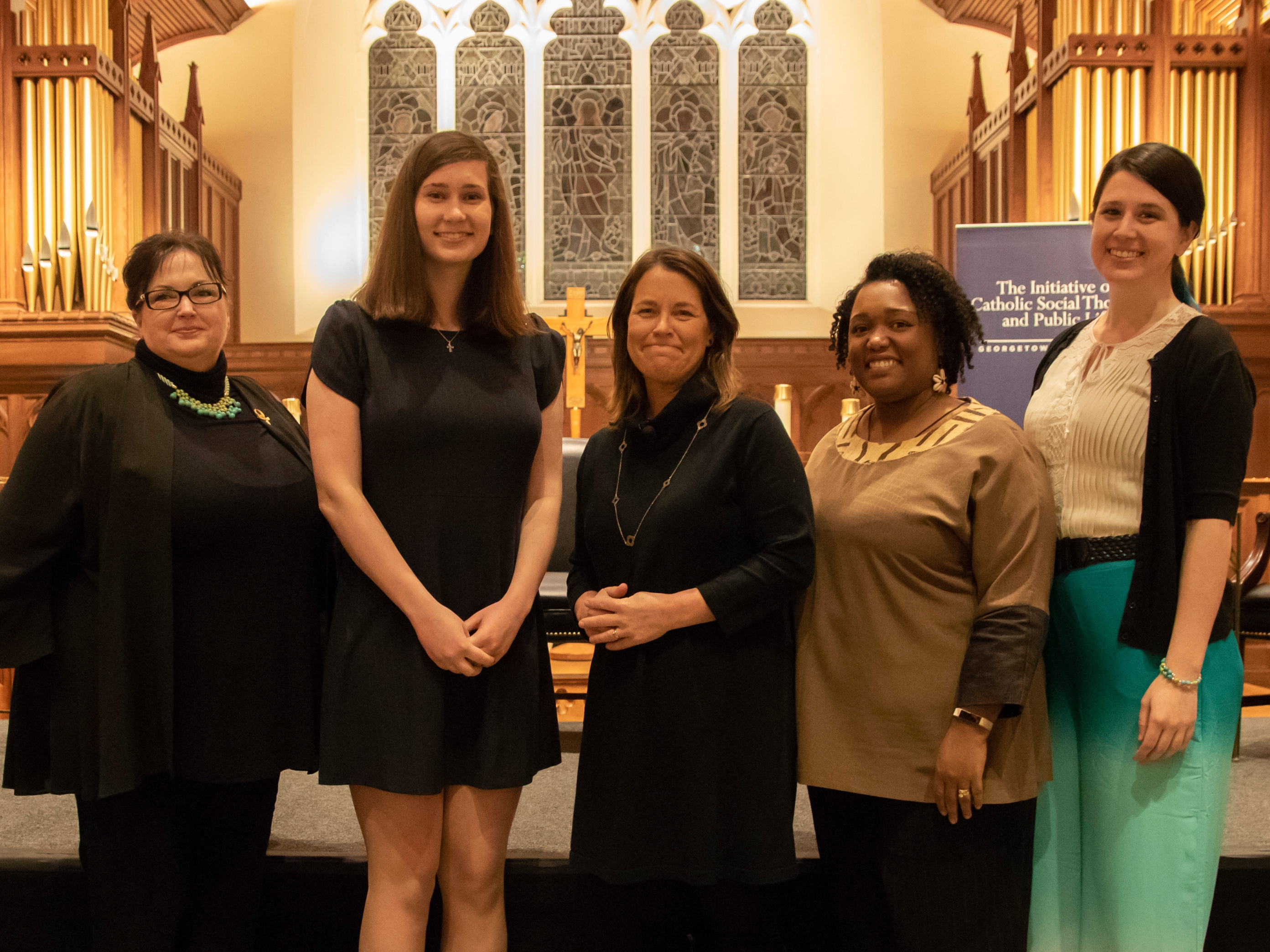 Panelists of January 15, 2019 Dahlgren Dialogue on pro-life women and resisting the throwaway culture.