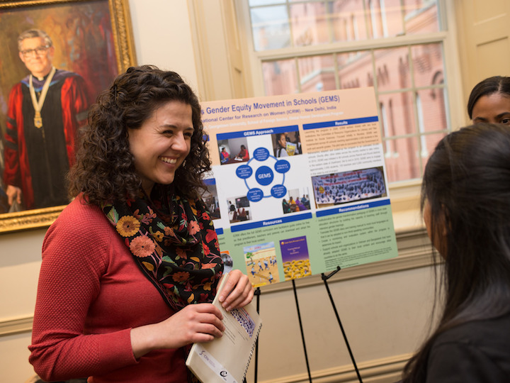 Student presents research at 2018 India Ideas Student Research Showcase