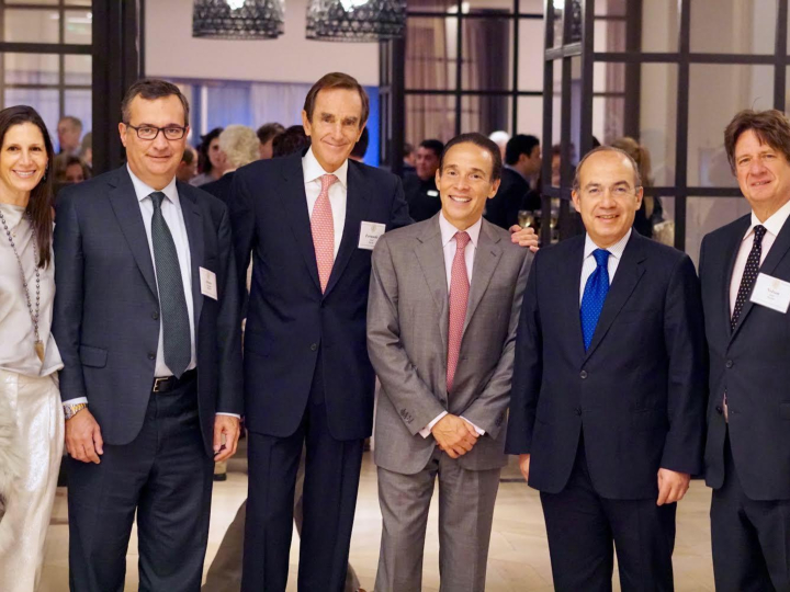 Latin American Board members with President Calderon