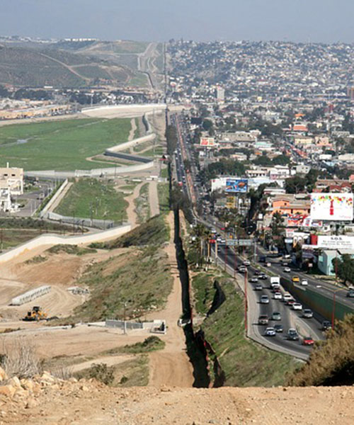View of U.S. - Mexico border