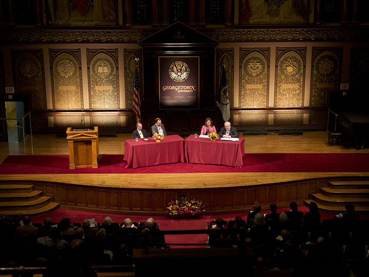 Public Dialogue in Gaston Hall at Georgetown University
