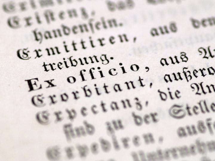 Ex Officio Latin Text
