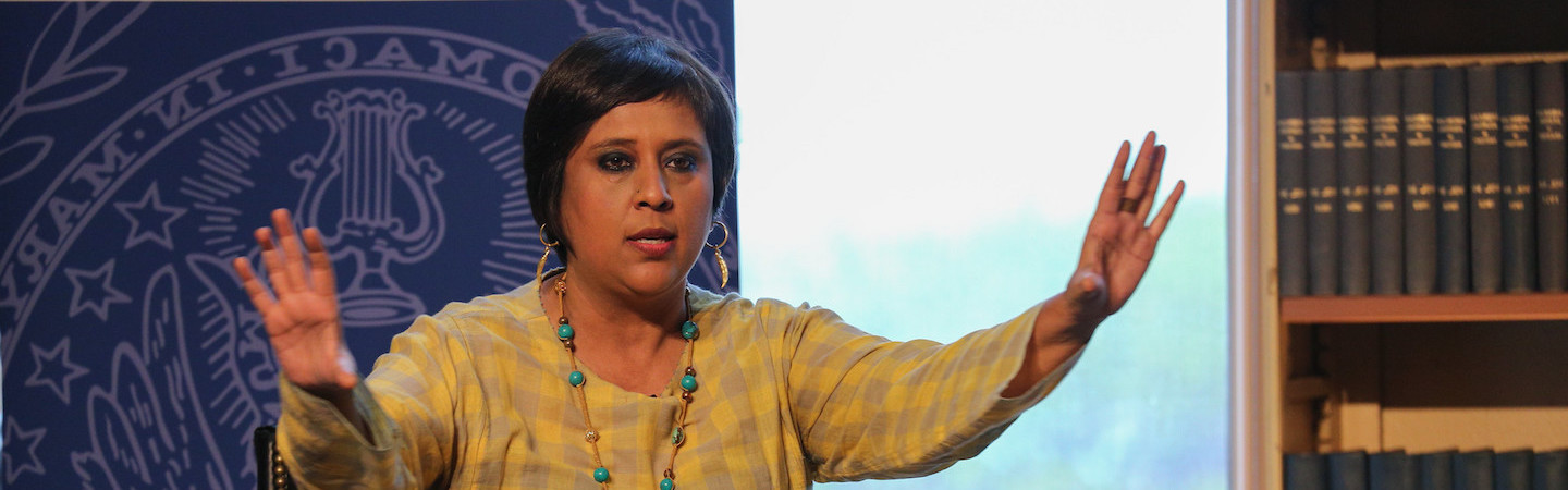 Barkha Dutt speaks at the 2019 India Ideas Conference