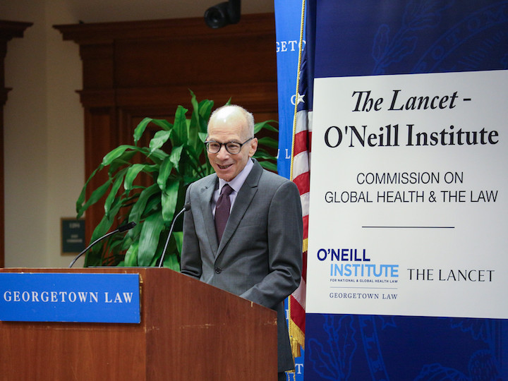 Lawrence Gostin speaking at the report launch event