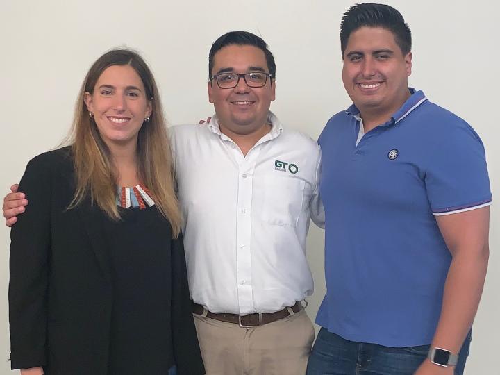 GCL 2019 alumni Paula Mosera, Gustavo Rodriguez and Francisco Abad