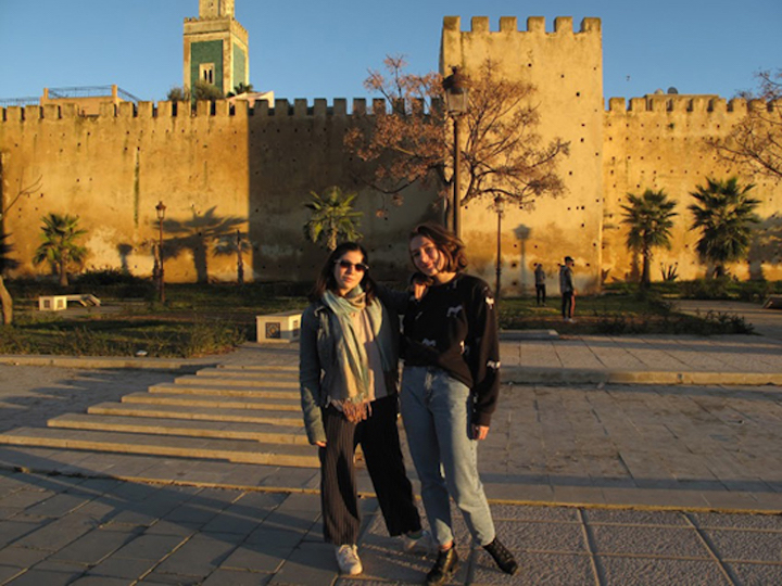 Katya Schwenk studying abroad in Rabat, Morocco
