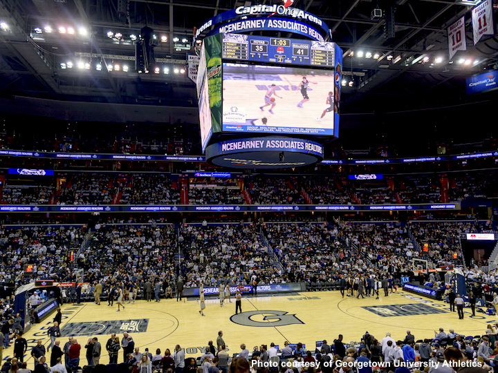 Capital One Arena during a Georgetown basketball game