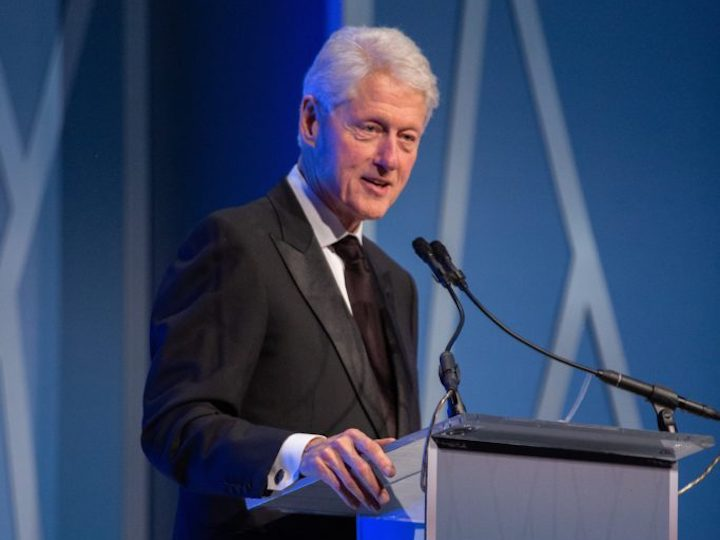 President Bill Clinton delivers address the at SFS Centennial Gala