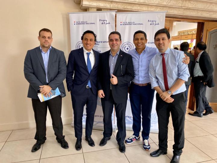 ILG 2019 alumni Daniel Escauriza, Agustin Pesce, Deninson Mendoza and Edgar Colman in Paraguay