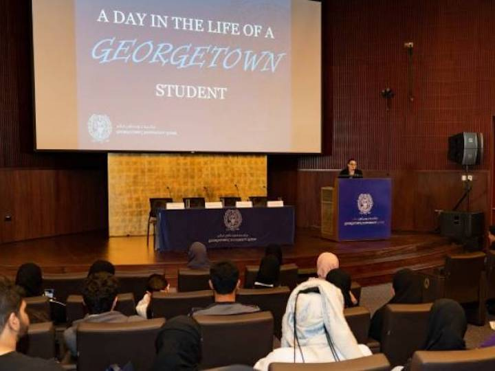"""""""A day in the life"""" at Georgetown University Qatar"""