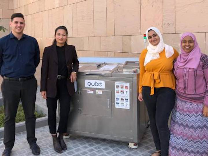 GU-Q students composting