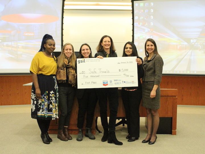 "Team ""Safe Travels"" won first place at the Global Social Innovation Lab"
