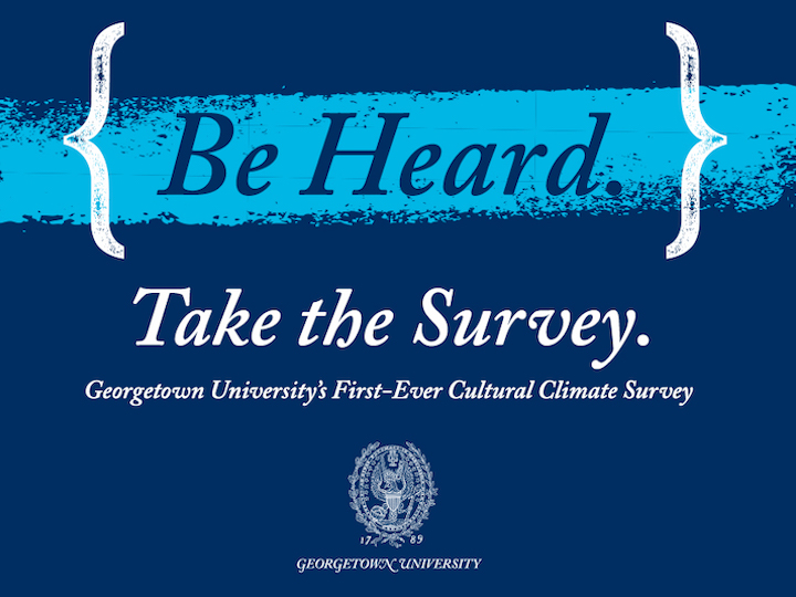 A call to take Georgetown's cultural climate survey