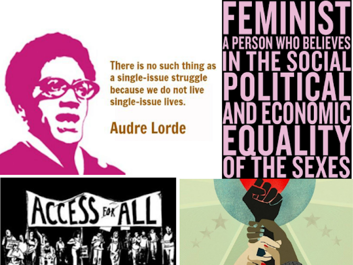 Guiding messages on the Women's and Gender Studies homepage.