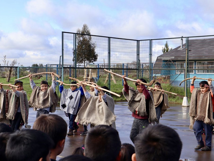 An intercultural elementary school performance in Chile (Photo courtesy of Grace Rector)