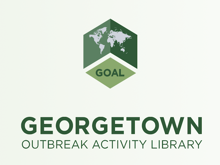 This is a screenshot of the logo of the Georgetown Outbreak Activity Library (GOAL).