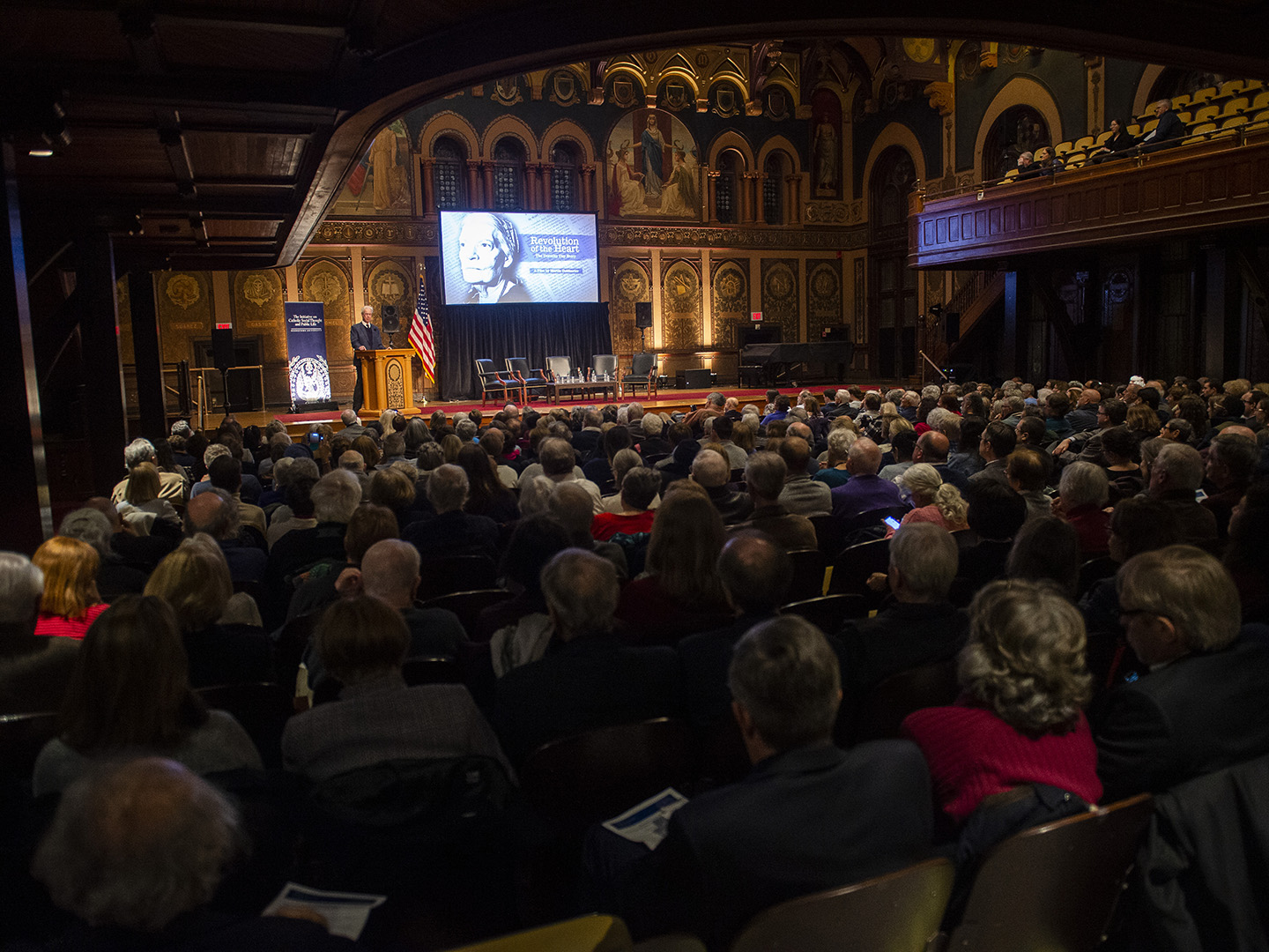 Audience at Public Dialogue on Dorothy Day in January 2020