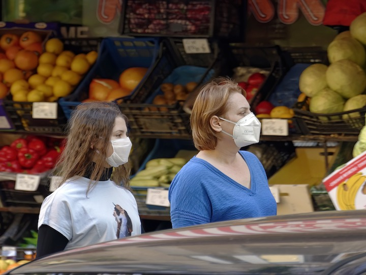This is a picture of girls wearing a mask