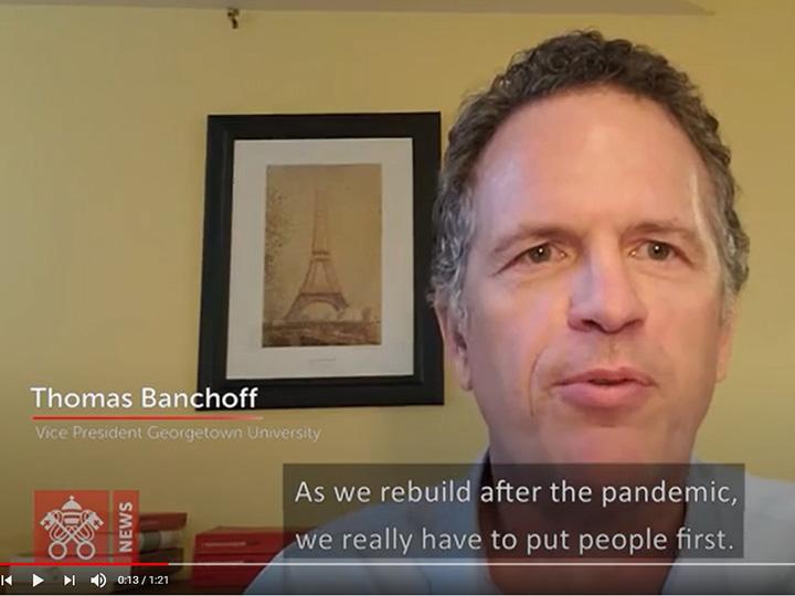 screenshot of Thomas Banchoff talking