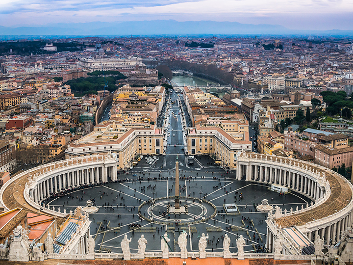 Aerial view of the Vatican's St. Peter's Square