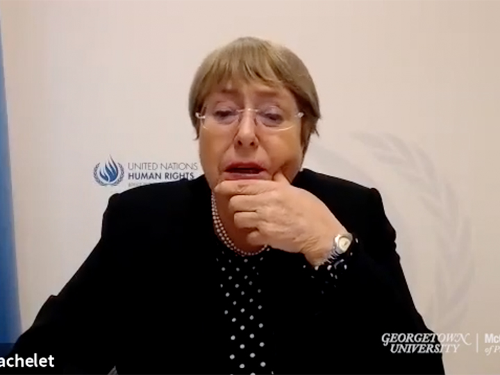 Michelle Bachelet on Zoom