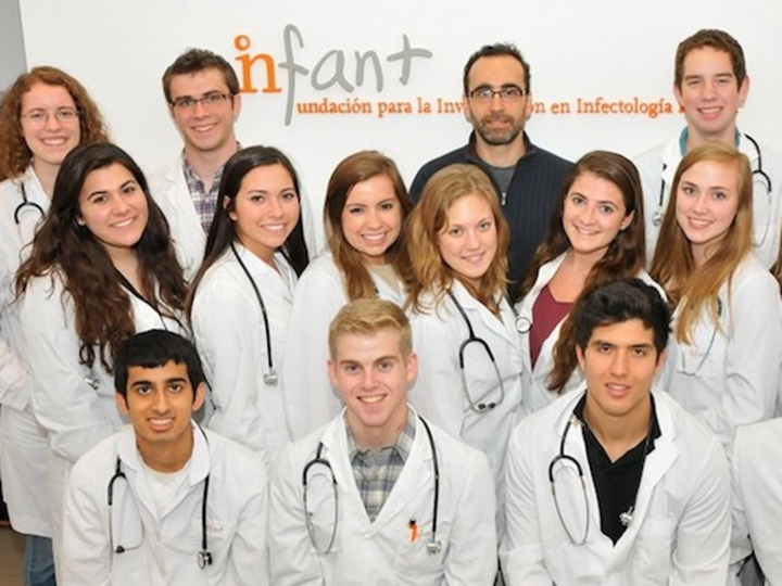 Students participating in the Translational Health Internship in Argentina