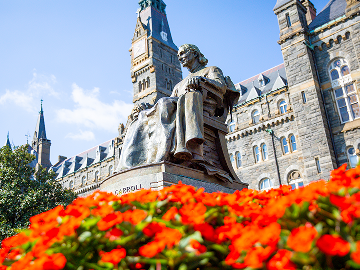 John Carroll Statue at Georgetown University