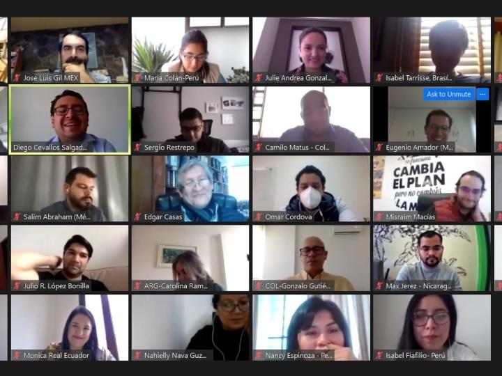 ILG 2020 participants during live virtual orientation session
