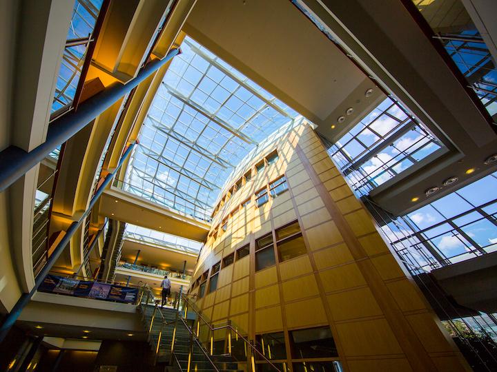 Hariri Building Interior Glass Ceiling
