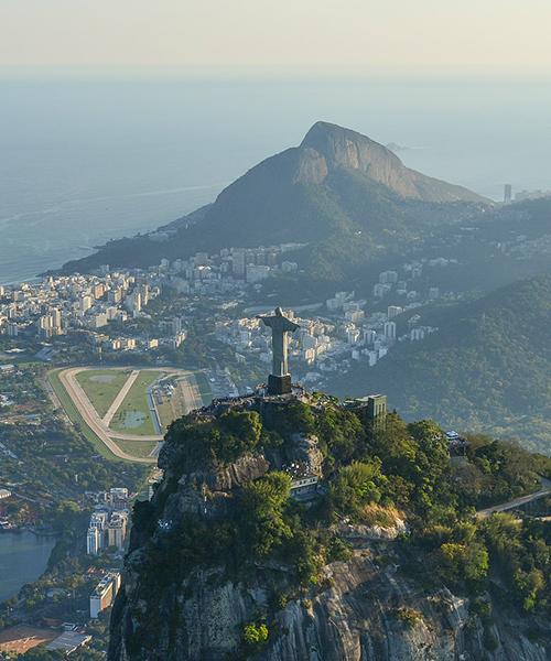 Christ the Redeemer statue overlooking the city of Rio de Janeiro