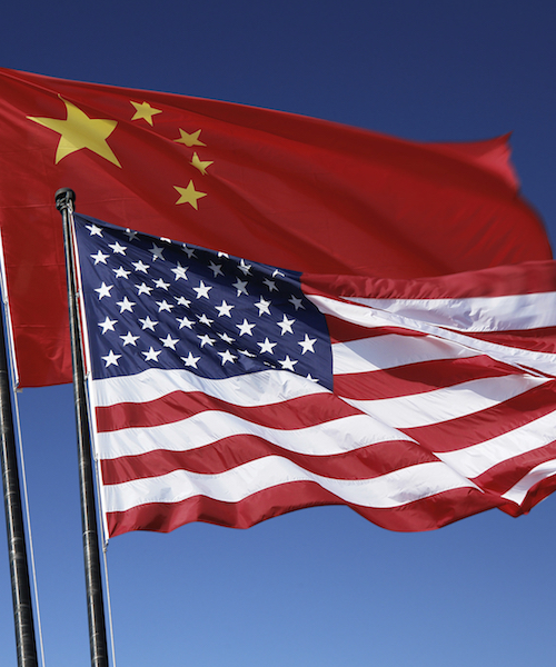 US and China Flags