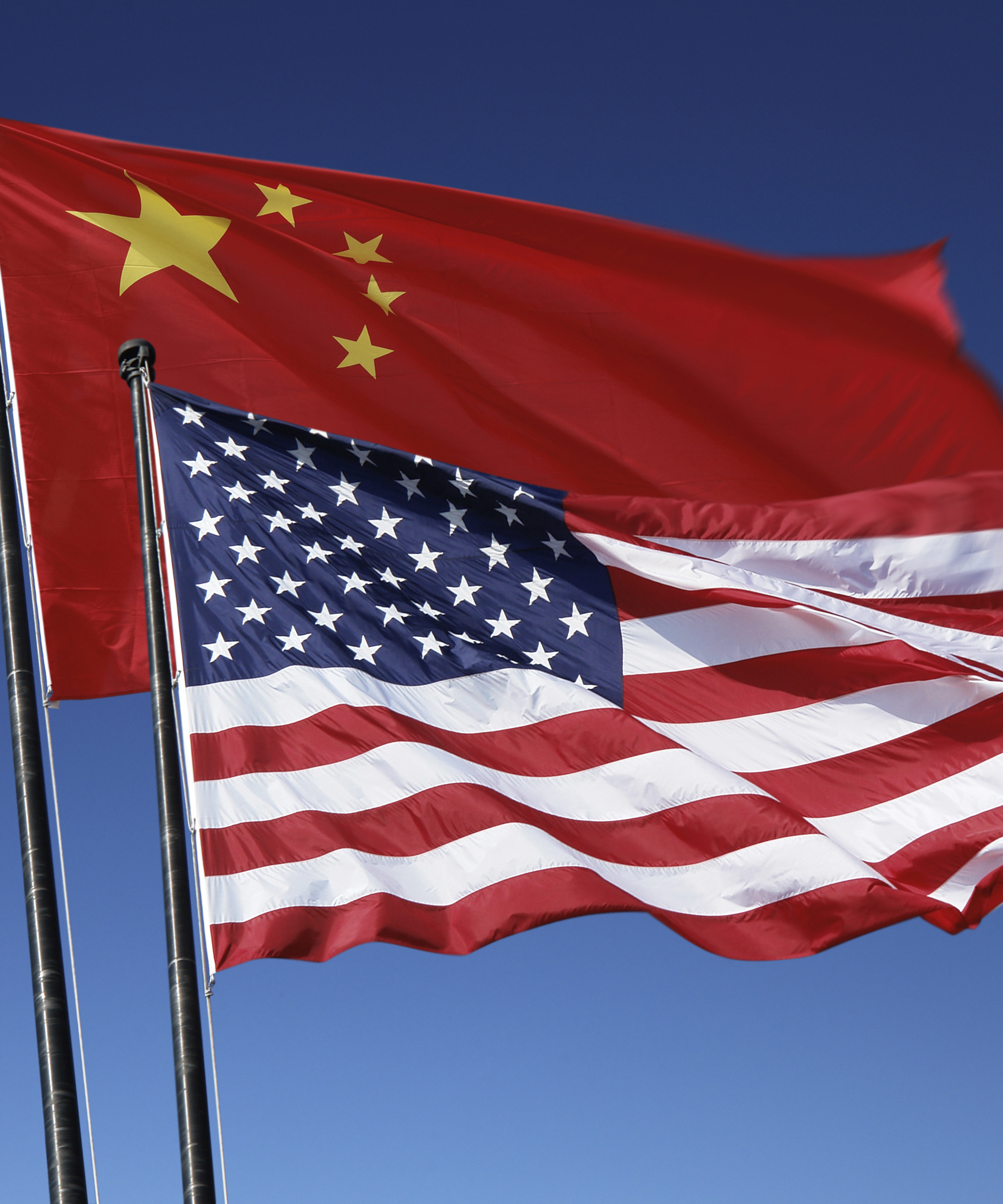 U.S. and Chinese flags