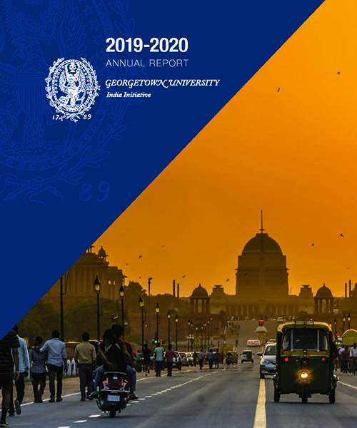 report cover with image of sunset on Indian street