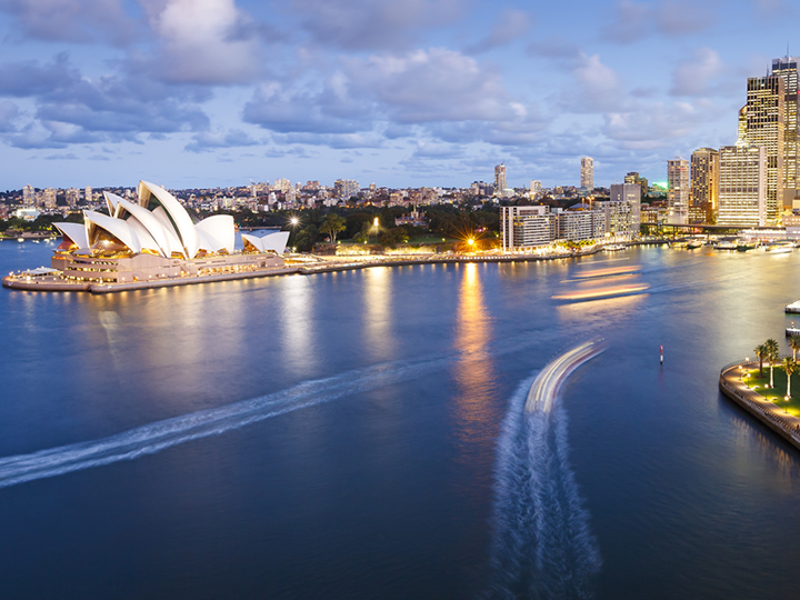Sydney Harbor Opera House in Australia