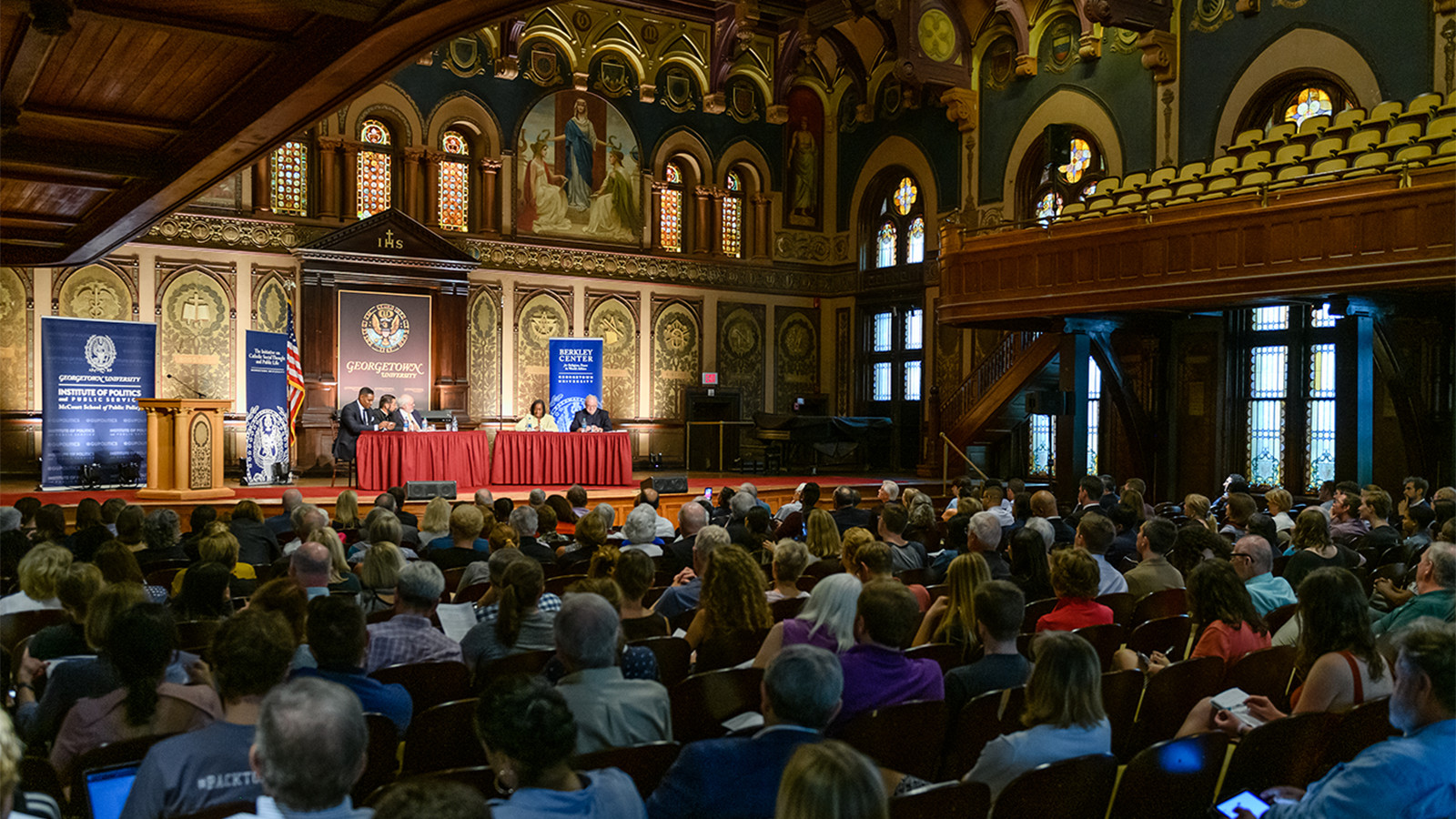 Audience in Gaston Hall on October 2, 2019