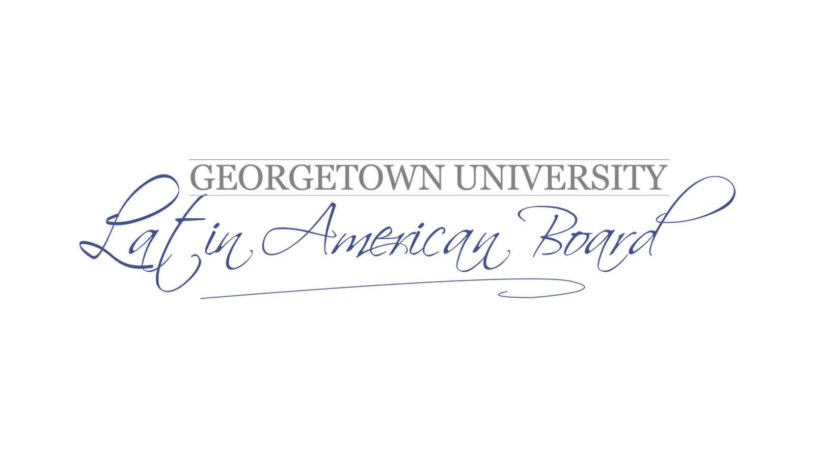 Georgetown University Latin America Board Logo