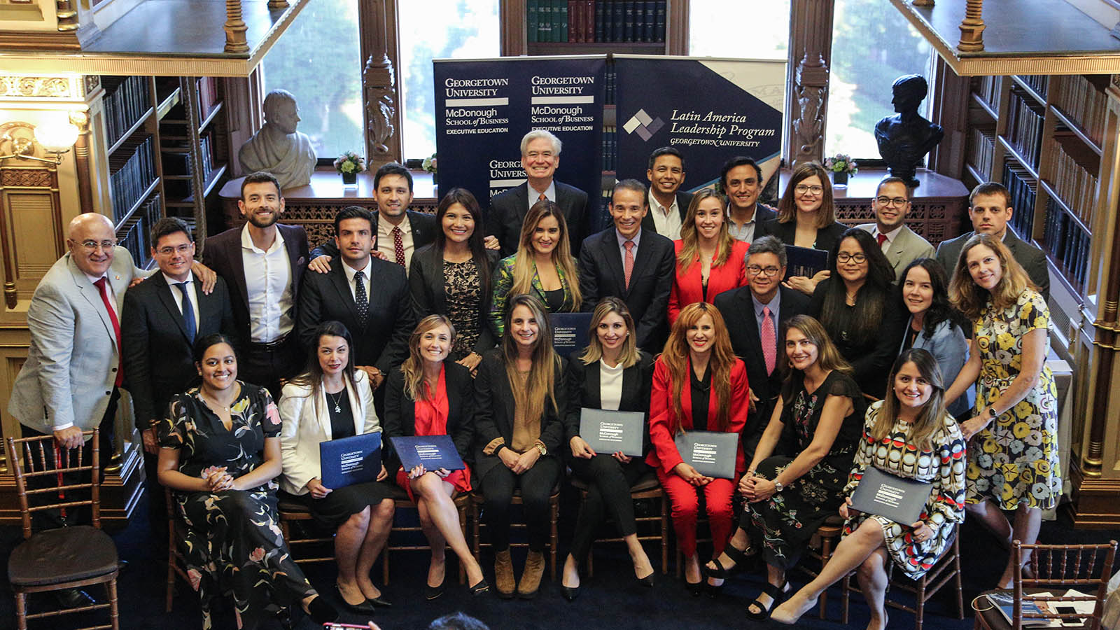 ILG 2019 cohort graduation at the Riggs Library, Georgetown University