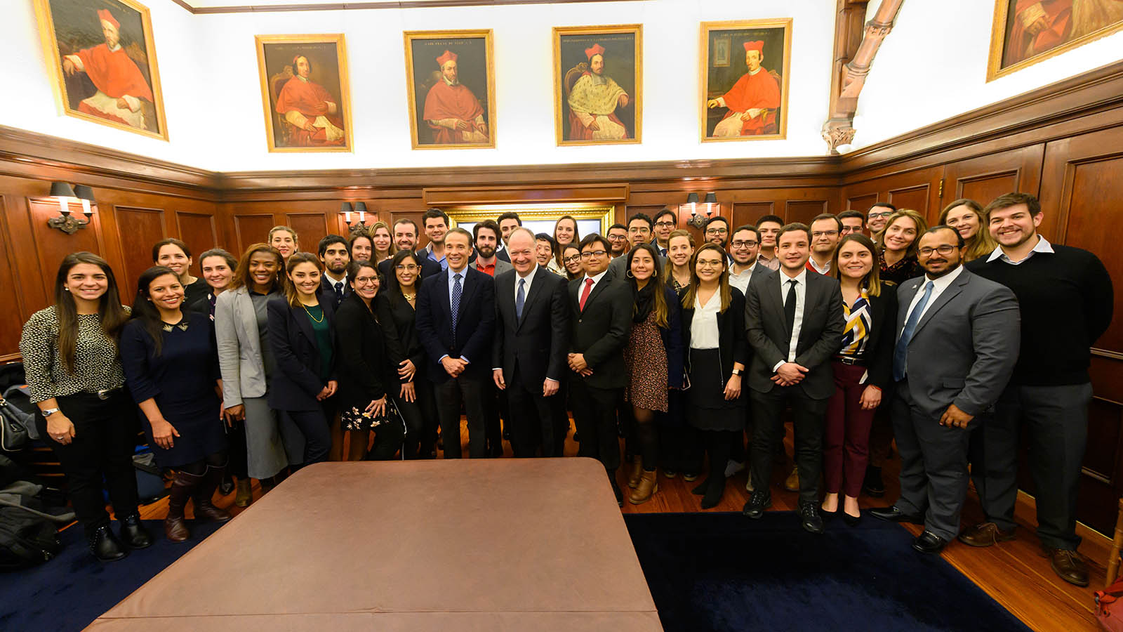 Georgetown President John J. DeGioia with the GCL 2020 participants