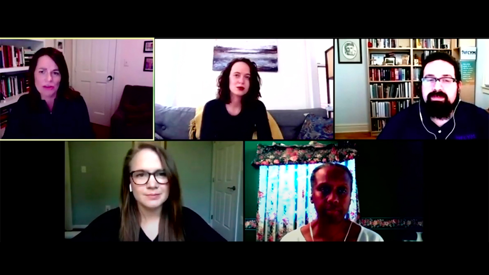 Panelists at the online April 27, 2020 gathering.