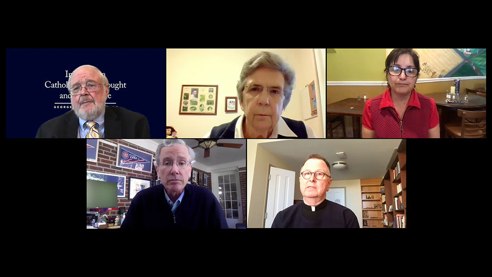 Panelists at the online March 26, 2020 dialogue.