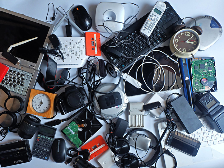 Jumbled electronic waste