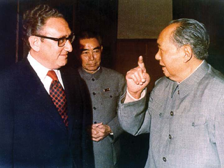 Henry A. Kissinger with Chairman Mao.