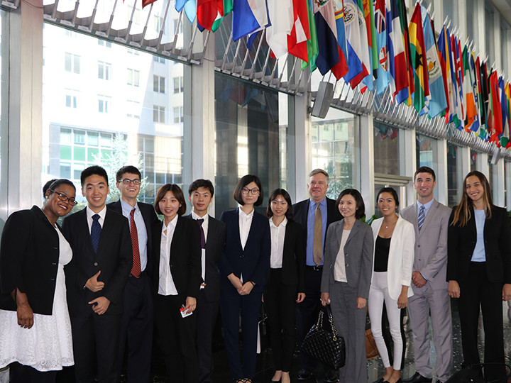 U.S.-China Student Fellows posing at a meeting