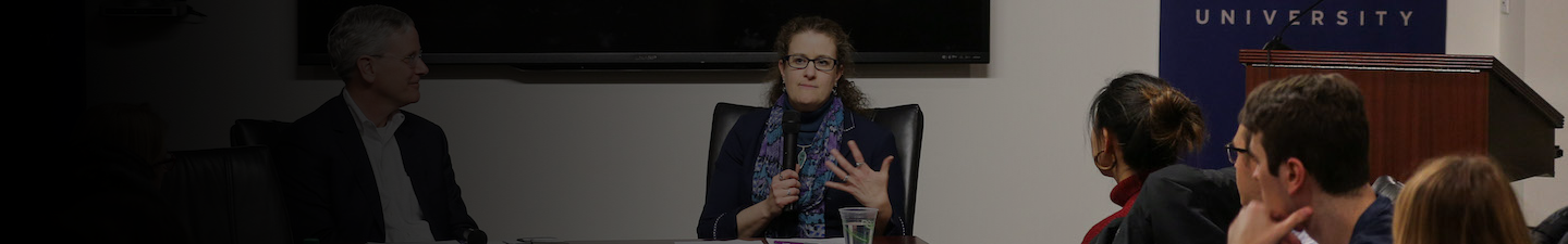 Dr. Beth Cameron speaking at a Conversations in Global Health event