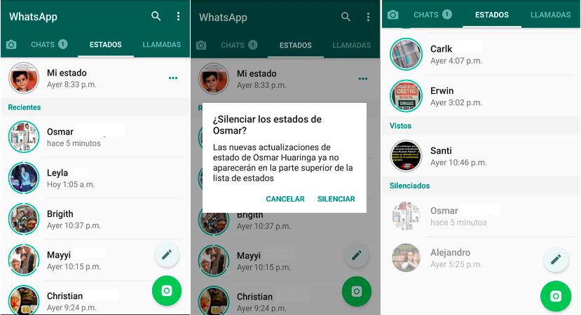 Whatsapp Así Puedes Silenciar Los Estados De Tus Contactos